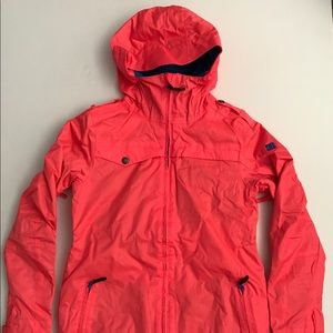 Women's Bright Coral Dc Snowboard Jacket Sz Med
